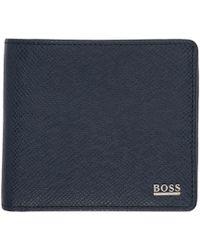BOSS - Navy Signature Wallet - Lyst