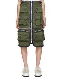 Sacai - Zip Front Pocket Fisherman Skirt - Lyst