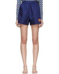 Prada - Navy Nylon Gabardine Sport Shorts - Lyst