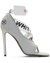 Off-White c/o Virgil Abloh - Grey Yoga Sandals - Lyst