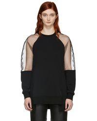McQ - Black Hybrid Asymmetric Sweatshirt - Lyst
