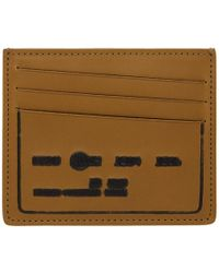 Maison Margiela - Brown Debossed Card Holder - Lyst