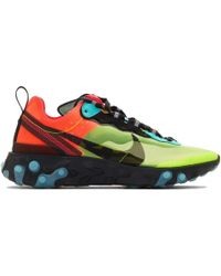 83d14335c7e0f Nike - Green And Blue React Element 87 Sneakers - Lyst