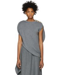 JW Anderson - Grey Circle Knit Top - Lyst