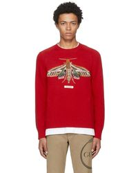 Gucci - Red Garden Anger Forest Moth Sweater - Lyst