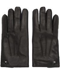 Valentino - Black Garavani Mini Stud Gloves - Lyst