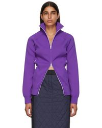 Tibi - Purple Track Zip Cardigan - Lyst