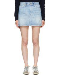 FRAME - Blue Le Mini Denim Miniskirt - Lyst