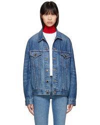 Khaite - Blue Denim Oversized Cate Jacket - Lyst