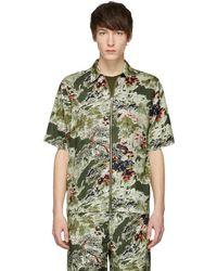 DIESEL - Khaki S-lyna Shirt - Lyst