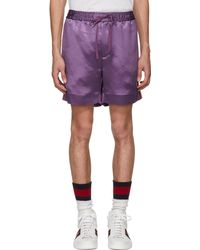 Gucci | Purple Japanese Logo Shorts | Lyst