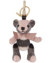Burberry - Pink Cashmere Thomas Keychain - Lyst