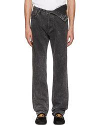 Y. Project - Black Asymmetric Hem Jeans - Lyst