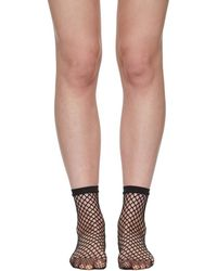 Wolford - Black Fishnet Short Socks - Lyst