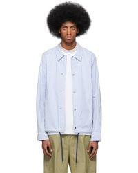 PS by Paul Smith - Blue And White Stripe Casual Jacket - Lyst