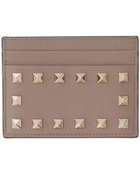 Valentino - Pink Garavani Rockstud Card Holder - Lyst