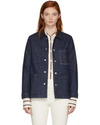 Rag & Bone - Blue Denim Henri Jacket - Lyst