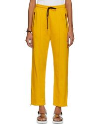 McQ - Yellow Racer Lounge Pants - Lyst