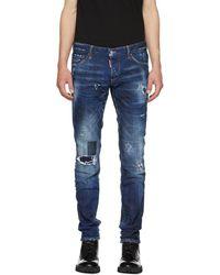 DSquared² - Blue Toppa Slim Jeans - Lyst