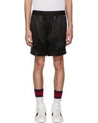 Gucci - Black Japanese Logo Shorts - Lyst