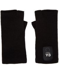 Y-3 - Black Logo Gloves - Lyst