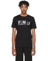 Fendi - Black Vocabulary T-shirt - Lyst