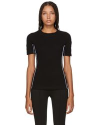 Rosetta Getty - Black Jersey Reversed T-shirt - Lyst