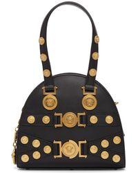 Versace - Black Small Medusa Bowling Bag - Lyst