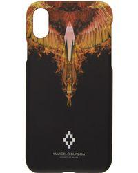 Marcelo Burlon - Black And Orange Flame Iphone X Case - Lyst