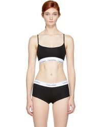 CALVIN KLEIN 205W39NYC - Black Modern Cotton Unlined Bralette - Lyst