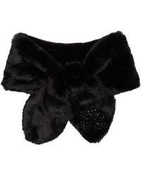 Simone Rocha - Black Faux-fur Bow Scarf - Lyst
