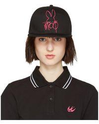 McQ - Black & Pink Logo Cap - Lyst