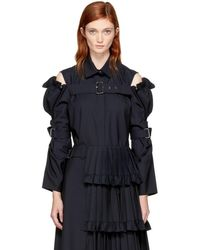 ShuShu/Tong - Navy Sleeve Belt Shirt - Lyst