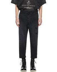 DIESEL - Black P-webbin Trousers - Lyst