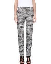CALVIN KLEIN 205W39NYC - Black & White Jacquard Brush Slice Tamar Trousers - Lyst