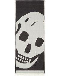 Alexander McQueen - Black Oversized Skull Scarf - Lyst