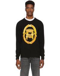 Versace - Black Angels Crewneck Sweater - Lyst