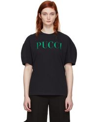 Emilio Pucci - Sssense Exclusive Black Glitter Logo T-shirt - Lyst