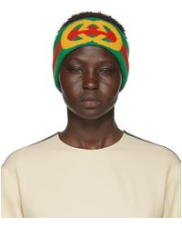 Gucci - Web Wool Headband With Interlocking G - Lyst