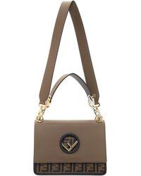 Lyst - Fendi Black Mini Forever Chain Bag in Black b68be045c5d25