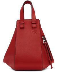 Loewe - Red Small Hammock Bag - Lyst