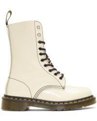 Marc Jacobs - Beige Redux Grunge Patent 1490 Boots - Lyst