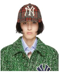 Gucci - Multicolor Ny Yankees Edition Plaid Patch Cap - Lyst