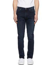 Nudie Jeans - Indigo Lean Dean Jeans - Lyst