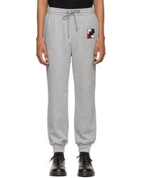 Burberry - Grey Chequer Ekd Munley Track Pants - Lyst