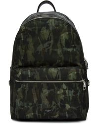 Dolce & Gabbana - Green Camo Backpack - Lyst