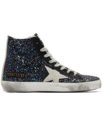 Golden Goose Deluxe Brand - Multicolour Glitter Francy Trainers - Lyst