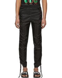 KTZ | Black Drawstring Corded Lounge Trousers | Lyst