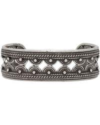 Saint Laurent - Bracelet manchette argente Marrakesh - Lyst