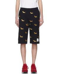 Thom Browne - Navy Hector Sweat Shorts - Lyst